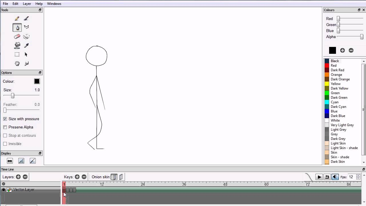 Pencil Beginners Tutorial Making a Simple Walk Cycle Animation (Four Frames)