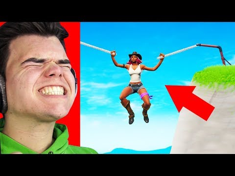 Hold On To The BROKEN ZIPLINE! (Try NOT To LAUGH In FORTNITE)