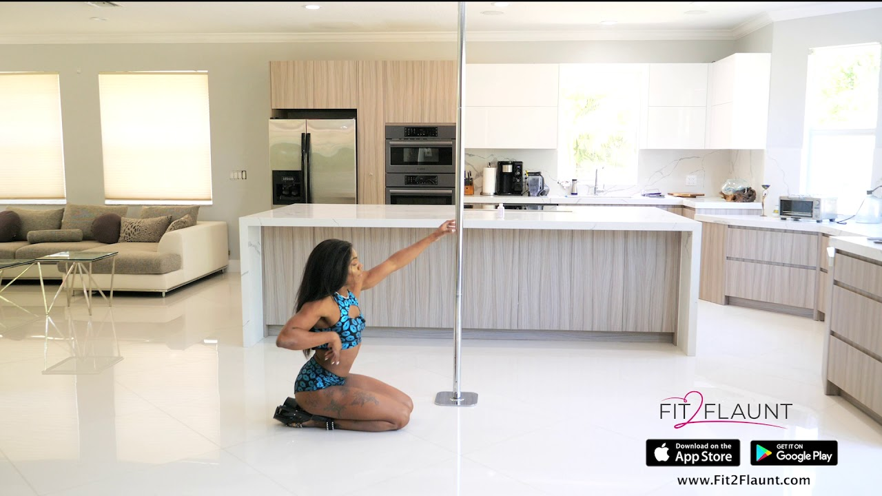 Beginner Pole fitness Dance routine tutorial -Learn to Pole Dance from home