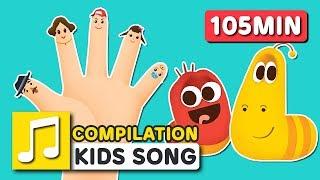 FINGER FAMILY COMPILATION   105MIN   LARVA KIDS   SUPER BEST SONGS FOR KIDS  