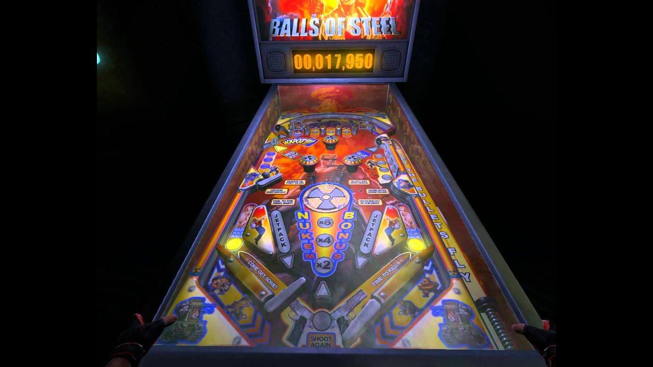 Duke nukem forever balls of steel pinball machine for Balls of steel