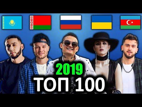 ТОП 100 клипов 2019 по ПРОСМОТРАМ | Россия, Украина, Беларусь, Азербайджан, Казахстан | Лучшие песни
