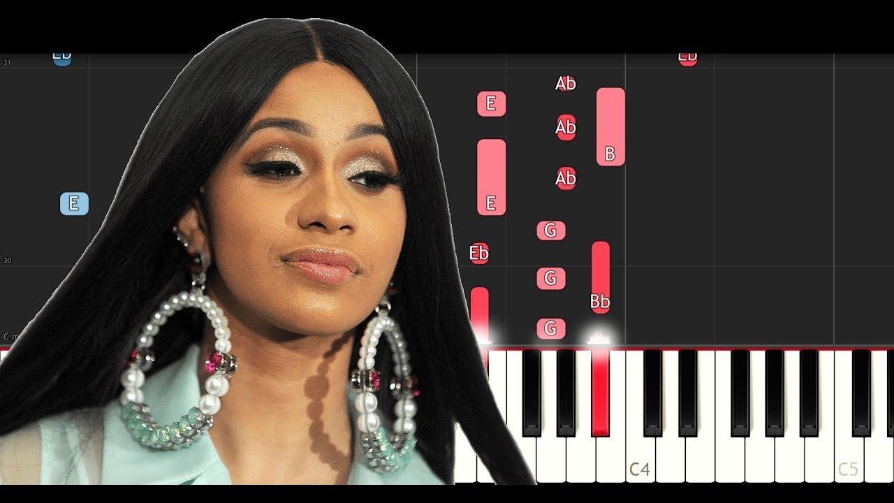 Cardi B Money: Money (Piano Tutorial Instrumental)