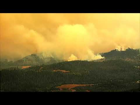 WATCH: Chopper Over The Glass Fire In Napa County, CA