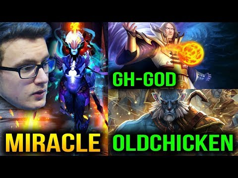 Miracle Phantom Assassin vs Gh MID and OldChicken Carry In Shanghai China