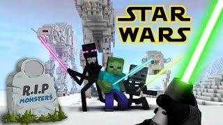 Monster School : Star Wars RIP Monsters (Funny) - Sad MINECRAFT ANIMATION