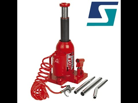 Strongway air hydraulic bottle jack 12 ton capacity for 10 ton air over hydraulic floor jack