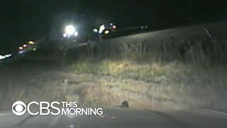 Dramatic video shows Utah trooper rescuing man from oncoming train