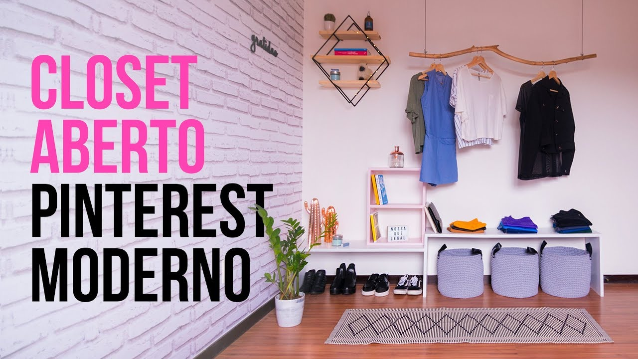 DIY - CLOSET / ARARA ABERTO do PINTEREST - YouTube