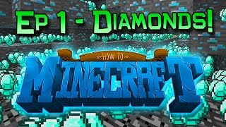 how to minecraft episode 1 how to find diamonds 1 8 smp
