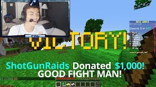Donating $1,000 to Minecraft Streamers IF they beat me in Bedwars