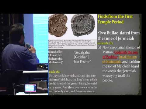 The Stones Cry Out 9A:  King David and the First Temple Period Evidence