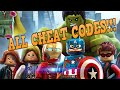 LEGO MARVEL AVENGERS ALL CHEAT CODES!!!!