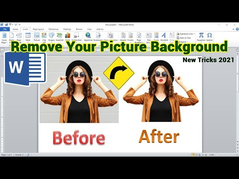 How to Remove Picture Background in Ms Word 2010 | MS Word Tutorial