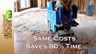 Remove Glued Hardwood From Concrete - For Homeowners Too