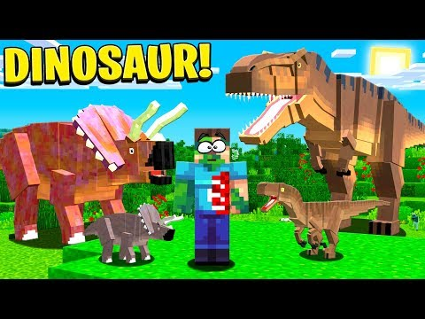 PLAYING MINECRAFT WITH DINOSAURS!
