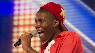 Sheyi Omatayo's audition - Louis Armstrong's Wonderful World - The X Factor UK 2012 thumbnail