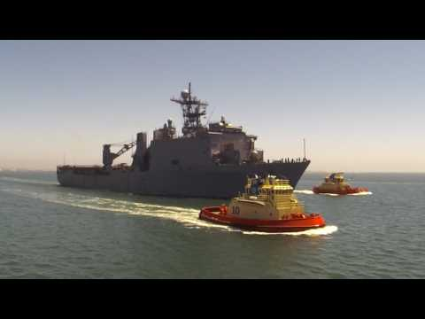 USS Rushmore (LSD47), Outbound, San Diego Bay