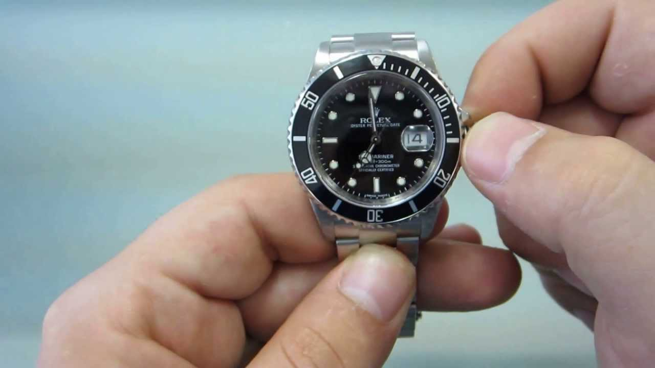 how to wind and set your rolex submariner goldwatchco youtube rh youtube com Rolex Oyster Perpetual Submariner Rolex Daytona