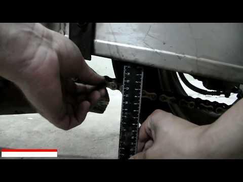 Натяжка цепи мотоцикла или Регулировка приводной цепи
