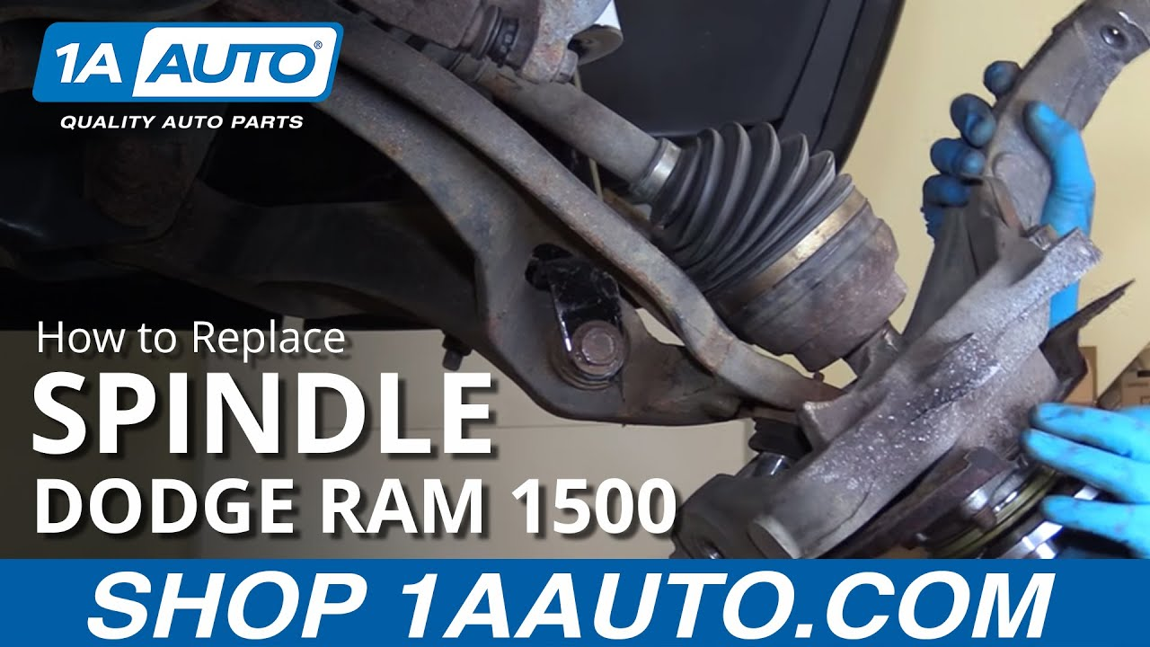 How To Replace Spindle 02 08 Dodge Ram 1500 Youtube Inner Tie Rod Ball Stud 2001 4x4
