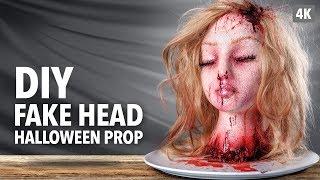 DIY Fake head Halloween prop