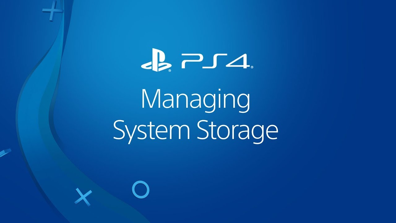PS4 manage storage