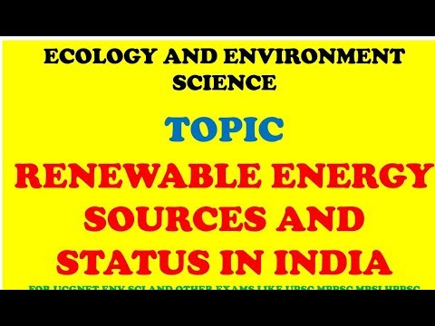 Environment and Ecology Topic Renewable Energy Sources