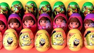 22 Nickelodeon Surprise Easter Egg Hunt 2014 TMNT SpongeBob Dora the Explorer by Disneycollector
