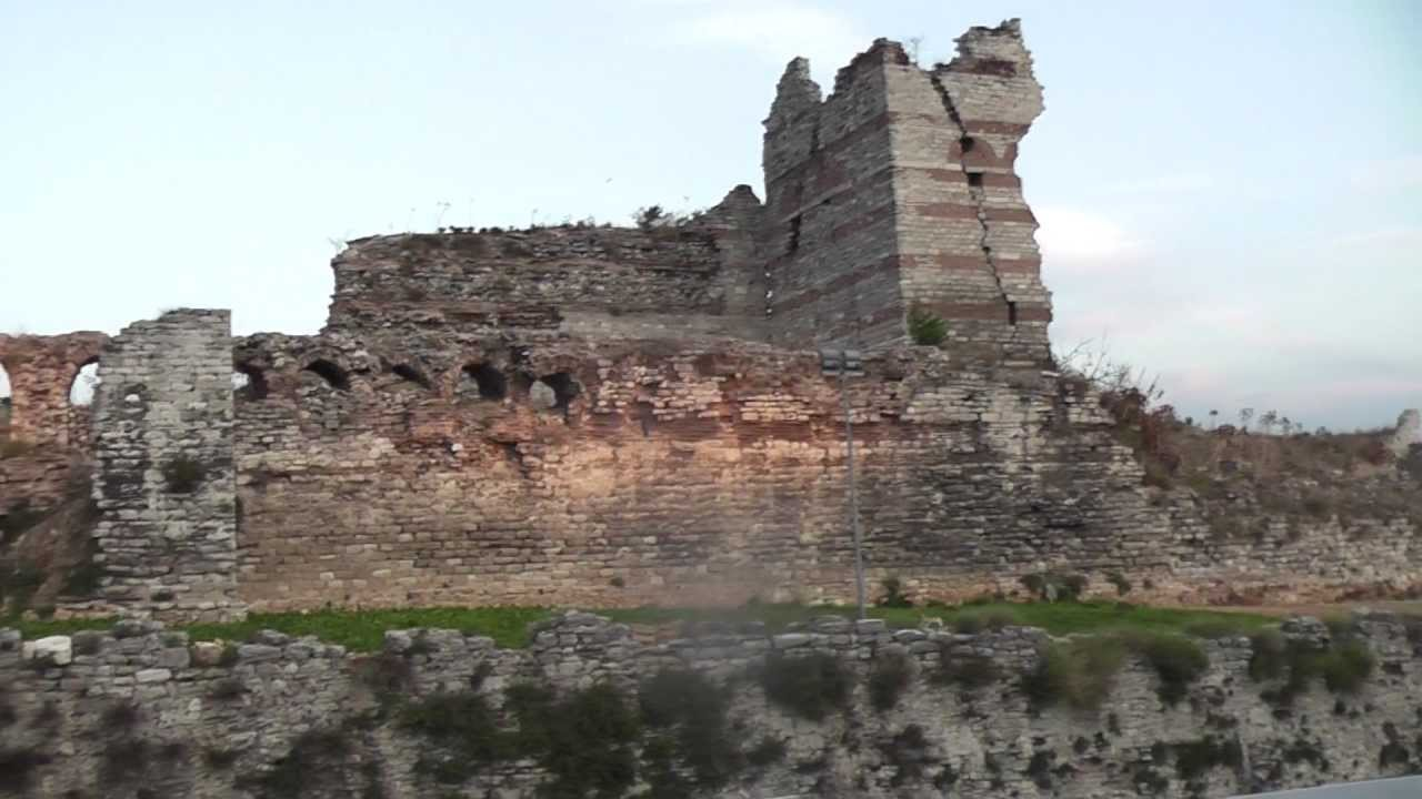 Turkey 6. Istanbul. Ancient walls of Constantinople. - YouTube