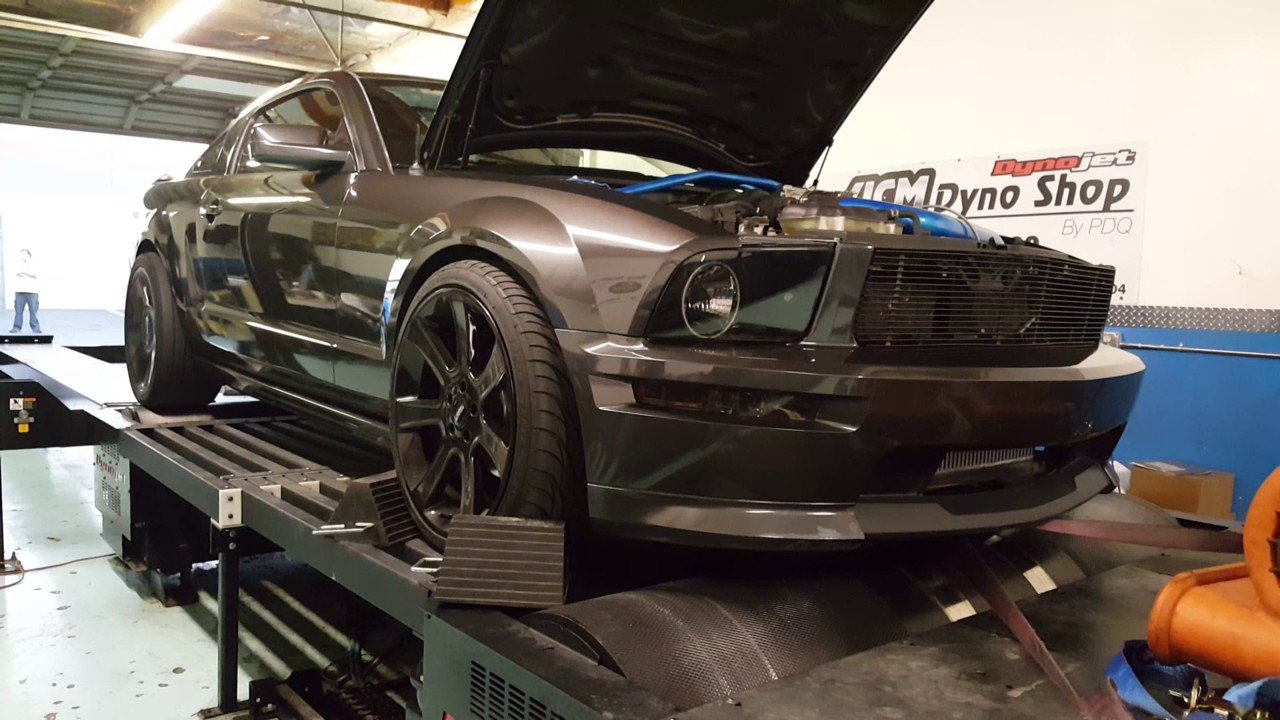 Mustang 76mm On3 Turbo dyno pull 7 psi boost