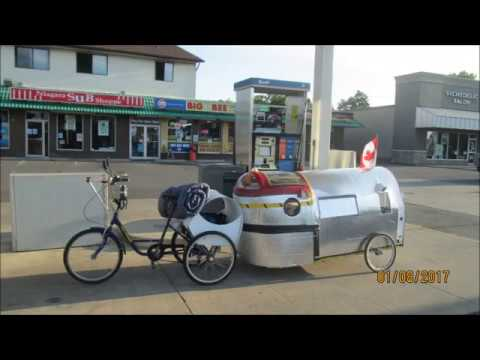 My bicycle camper trailer adventure by Jorge Video # two