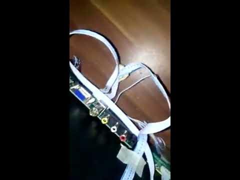 Modifikasi LCD laptop rusak menjadi TV lcd