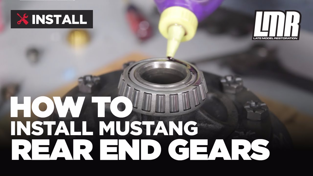 mustang rear end gear installation ford racing 8 8 ring pinion [ 1280 x 720 Pixel ]