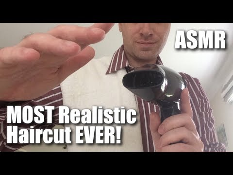 ASMR, VERY Realistic Haircut Roleplay! (British accent, soft spoken, male voice)