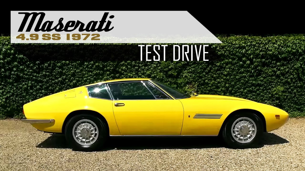MASERATI GHIBLI 4.9 SS Coupé 1972 - Full test drive in top ...
