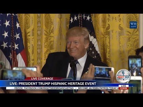 President Donald Trump Hosts a HISPANIC Heritage Month Event 10/6/17