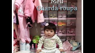 O guarda roupa da minha bebê Reborn Manuelle