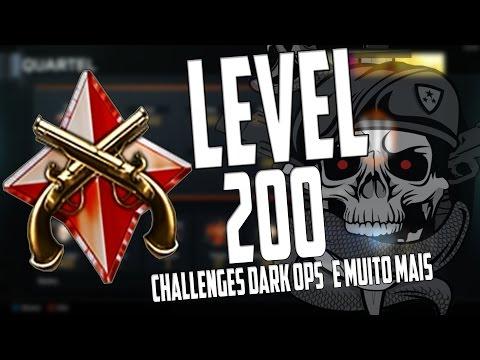 BO3 - Level 200 Meu Status Challenges Dark ops e Muito Mais