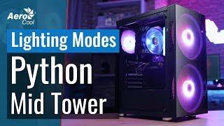 aeroCool Python Mid Tower Case - 60 Lighting Modes