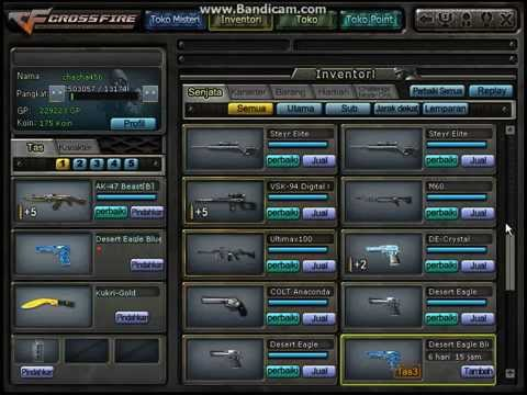 Jual char Crossfire Indonesia Jakarta nick chacha456