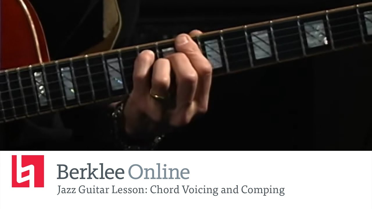 Jazz Guitar Lesson Chord Voicing And Comping Youtube