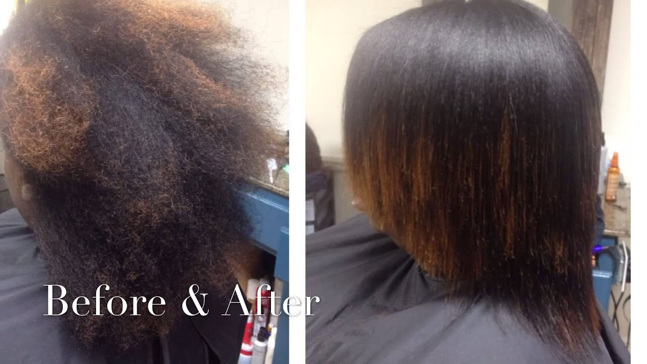 Silk Press Flat Iron Natural Hair Louisiana Youtube