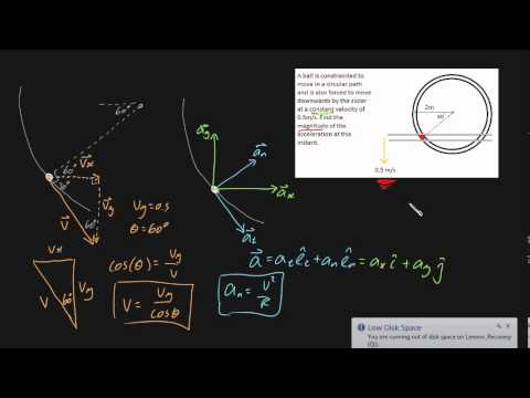 Curvilinear motion example 2