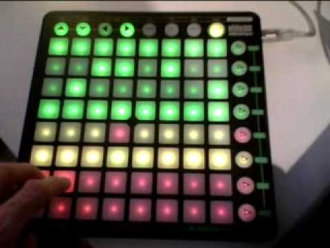 Using Zoom Q3 video recorder - test  video on Novation Launchpad