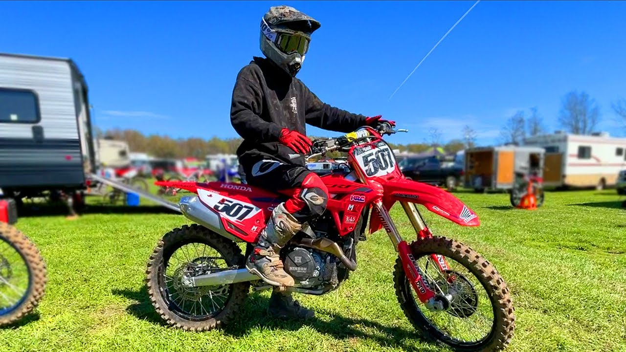 My First Ride on NEW Honda CRF450... it's too fast