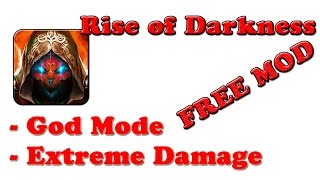 FREE! Rise Of Darkness Ver. 1.2.102872 MOD APK + OBB | God Mode | Extreme Damage | @G-Bo