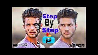 PicsArt Editing Tutorial 2018 | How to Make Terminator Face | Best PicsArt Studio Editing