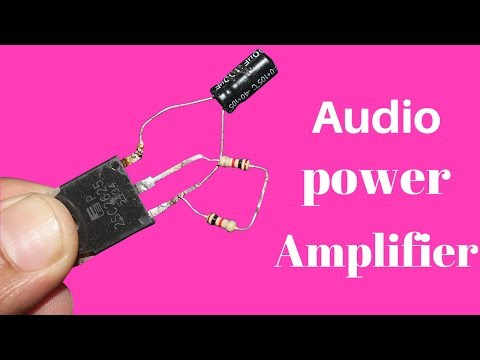 How To Make Audio Power Amplifier Using Different Way - Basic Audio Amplifier Easy Tutorial