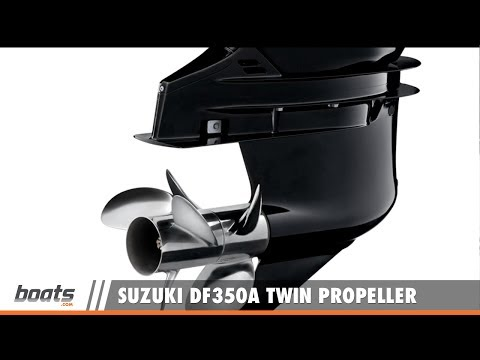 Suzuki DF350A Twin Propeller Outboard On Water Test - YouTube